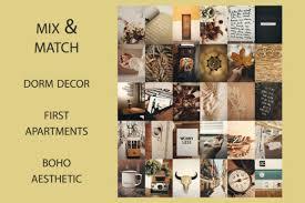 mustard boho mood wall collage kit