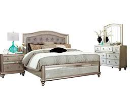 Amazon.com: Coaster Bling Game Bedroom Set with Queen Bed ...