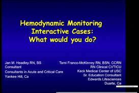 Hemodynamic Monitoring Interactive Cases What Would You Do Rx 1