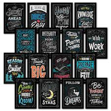 Palace Learning 16 Laminated Motivational Classroom Wall Posters Inspirational Quotes For Students Teacher Classroom Decorations 13 X 19 Lam 001