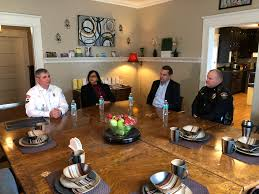 director of cabarrus ems alice harrison director of hope haven and serenity house rep richard hudson major keith eury concord police department