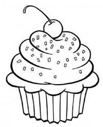 You can give desired color to this cupcake layout and imgbuddy.com here is another free cupcake template design available in print ready format that you can utilize to create birthday greeting cards, banners. Pin By Coloring Fun On Food Drink Cupcake Coloring Pages Coloring Pages Printable Coloring Pages