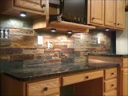 tumbled stone tile backsplash kitchen inspiration for rustic kitchen using  rock tumbled stone rock brown backsplash