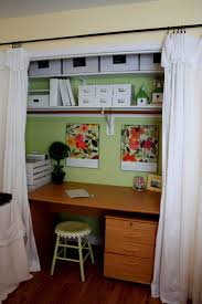 Home Office In A Closet Install Board At Bar Height For Larger ...
