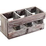 decorative office supplies. 3 compartment torched wood desktop office supplies caddy desk organizer storage holder decorative
