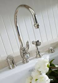 design house kitchen faucets. vintage-style nickel fixtures from waterstone faucets, functional \u0026 charming; santa barbara design house and gardens showhouse - traditional home kitchen faucets r