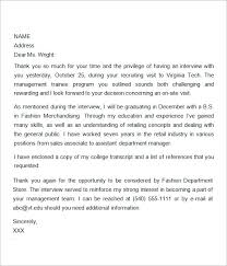 Gallery Of 7 Interview Thank You Letters 2nd Follow Up Letter