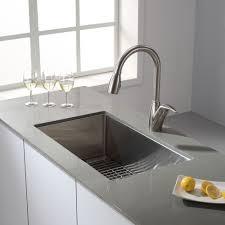 kraus khu100 30 stainless steel 30 single basin 16 gauge stainless steel kitchen sink for undermount installations basin rack and basket strainer