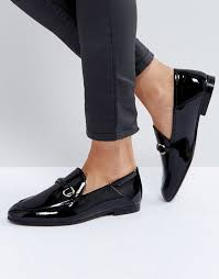 hudson london arianna black patent loafers women shoes