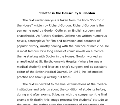 the text under analysis is taken from the book doctor in the house  document image preview