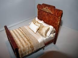 Miniature Dollhouse Bedroom Furniture Tony Jones Miniature Wood Bedroom Set With Custom Bedding Tony