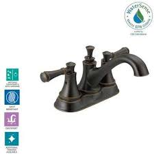 silverton 4 in centerset 2 handle bathroom faucet in spotshield venetian bronze