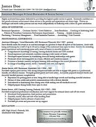 Template Bartender Resume Sum Up All Of Your Qualification In