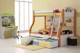 kids bedrooms simple. Bedroom:Simple Modern Bunk Bed For Kids With Small Ladder And Built In Rack Perfect Bedrooms Simple T