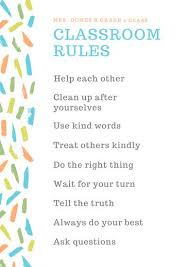 classroom rules template classroom rules poster templates by canva