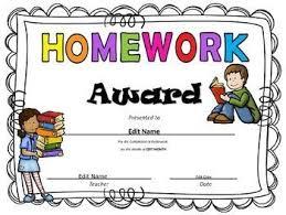 Microsoft Publisher Format Homework Award Homework Microsoft Publisher Teaching