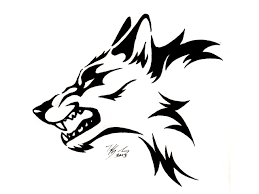 wolf face drawing tribal.  Wolf Tribal Wolf Head Tattoo  Black Design Drawing And Face H