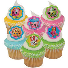 24 Shopkins Cupcake Cake Rings Birthday Party Favors Cake Toppers