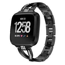 Amazon Com For Fitbit Versa Watch Band Adjustable Luxury
