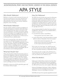 Apa Style Of Essay Writing