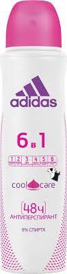 Adidas <b>Дезодорант</b>-антиперспирант 6в1 Cool&Care, <b>спрей</b> ...