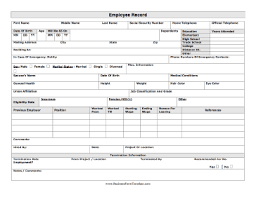 employee sheet template employee record template