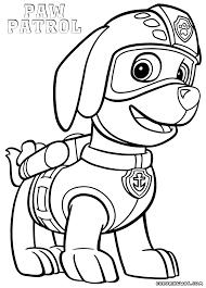 Rubble Paw Patrol Coloring Page Color Bros