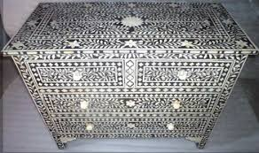 Indian & Moroccan Style Camel Bone Inlay Sideboard & Drawer Chest