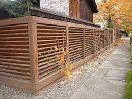 Image of: Modern Fence Ideas around a Standby