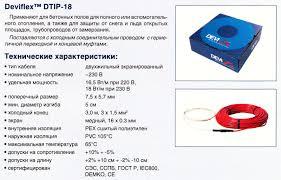Нагревательный <b>кабель</b> Deviflex DTIP-18 двухжильный
