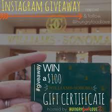 win a 100 williams sonoma gift card