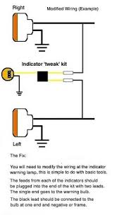 6v 12v led indicators if you fit a led bulb in place of a std indicator bulb it will only work on one side left or right not both you need a tweaker