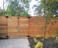 ... modern horizontal fence plans Fence, Custom Cedar Horizontal Privacy  Fence In Grand Rapids, Michigan.