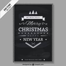 Cmyk Black And White Christmas Card Vector Free Download