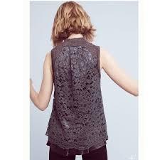 Anthropologie <b>Sweaters</b>   <b>Ella Lace</b> Moth <b>Sweater</b> Tank Sz Xs ...