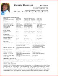 Resume Template Simple Beginner Actor Resumeample Acting Example