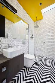 Architecture Black Yellow White Bathroom Simple And Colorful Home - Yellow and white bathroom