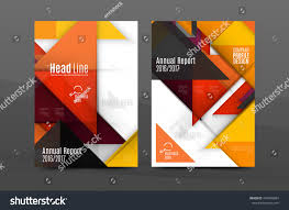 Annual Report Cover Template Squares Triangles Annual Report Cover Template Stock Vector 21
