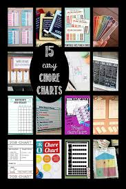 Somewhat Simple Chore Chart 15 Easy Chore Charts