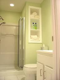 Stunning Ideas For Small Bathroom Design : Astounding Small Bathroom In Light  Green Including One Piece
