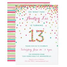 13th Party Invitations Girl 13th Birthday Invitation Thirteenth Birthday