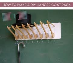 Make Coat Rack How To Make A DIY Hanger Coat Rack Curbly 57