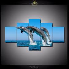 hd print 5 pcs dolphin canvas wall art print painting art home decor canvas art print on dolphin canvas wall art with hd print 5 pcs dolphin canvas wall art print painting art home decor