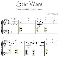 The composer born in new york, february 8, 1932, is the person behind the theme songs in the films 'star wars' since 1977, which is when the film 'star wars: Star Wars John Williams For Little Children Easy Piano Sheet Music With Letters Ania Massetti Composer