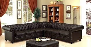 sa microfiber sofa that looks like leather brown faux sectional
