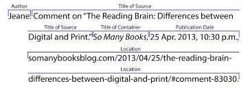 Mla Source Cite Online Sources Citing Information Libguides At