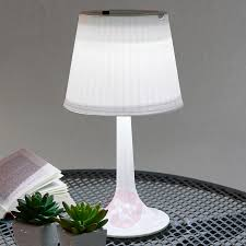 Witte Solar Tafellamp Jesse Met Leds