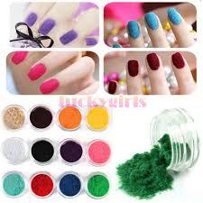 dels about 12 pots colors nail art velvet flocking snow powder dust acrylic uv 3d tip diy