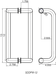glass door pull handle. Rockwell-12-Offset-Back-to-Back-Tempered-Glass- Glass Door Pull Handle