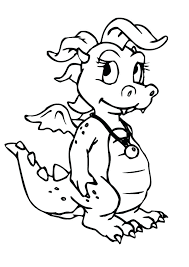 Free Printable Coloring Pages Baby Dragon Cute For Kids Easter Bunny